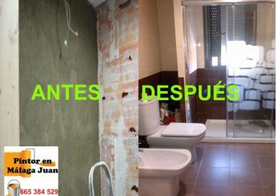 Reforma baño antes y después - Soliva - Málaga