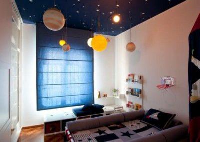 Habitación juvenil espacial