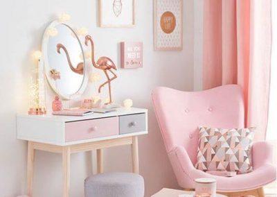 Habitación rosa niña pintura